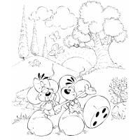 disegno di Diddl nel Bosco da colorare