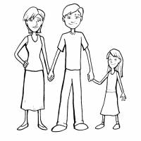 disegno di Famiglia da colorare