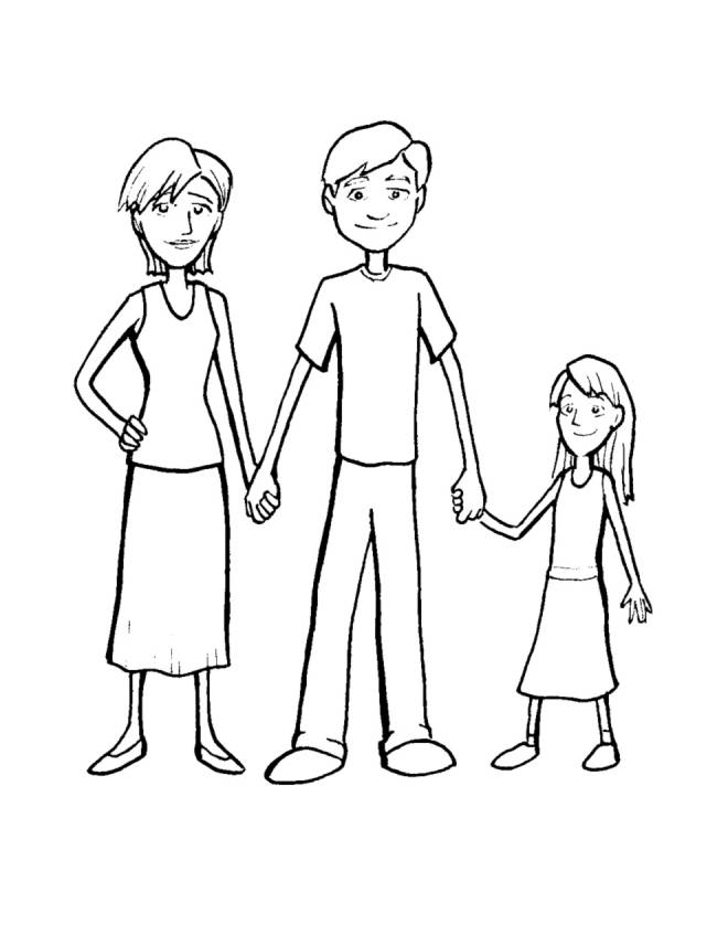 Disegno di famiglia da colorare per bambini - Stampare pagine da colorare ...