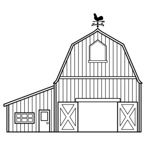 Disegno di fattoria da colorare per bambini gratis for Disegno della fattoria americana