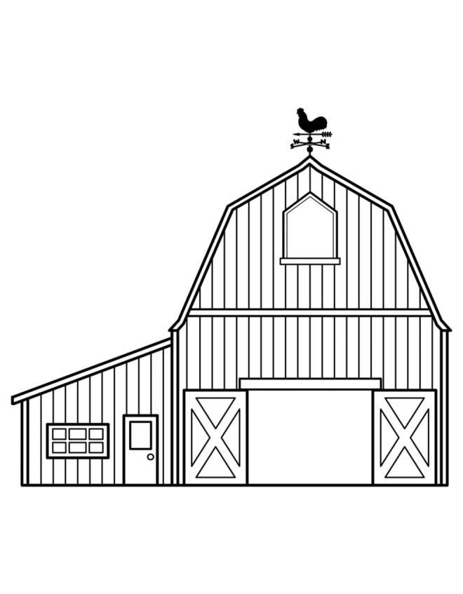 Stampa disegno di fattoria da colorare for Fattoria immagini da colorare