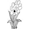 Disegno di Il Fiore e la Coccinella da colorare