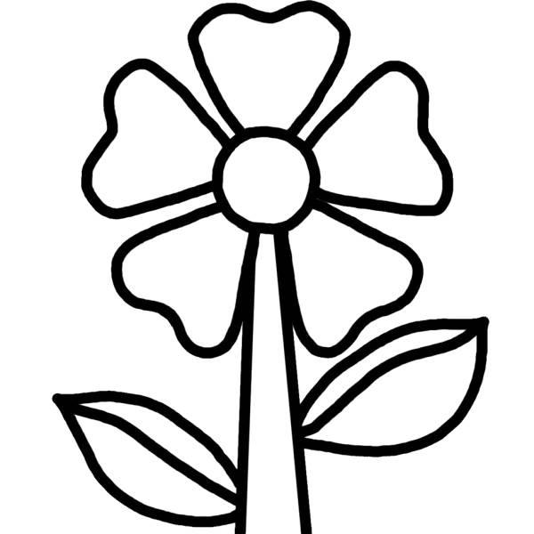 Disegno di fiorellino da colorare per bambini for Disegni fiori da colorare
