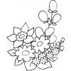 Disegno di Fiori di Primavera da colorare