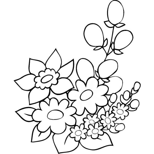 Disegno Di Fiori Di Primavera Da Colorare Per Bambini