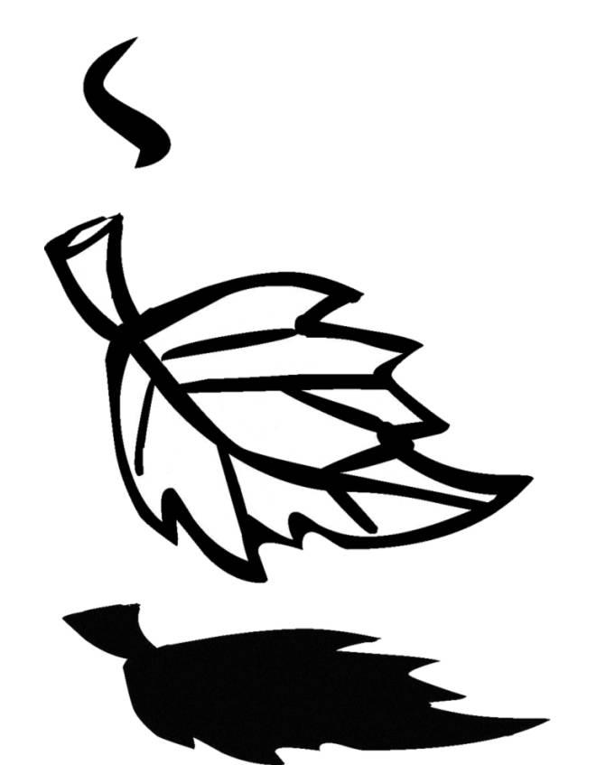 disegno di Foglia che Cade da colorare