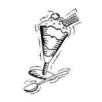 disegno di Coppa Gelato da colorare