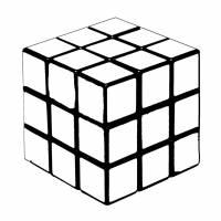 Disegno di Gioco del Cubo da colorare
