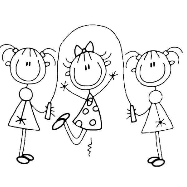 Disegno di gioco della corda da colorare per bambini for Immagini della pimpa da colorare