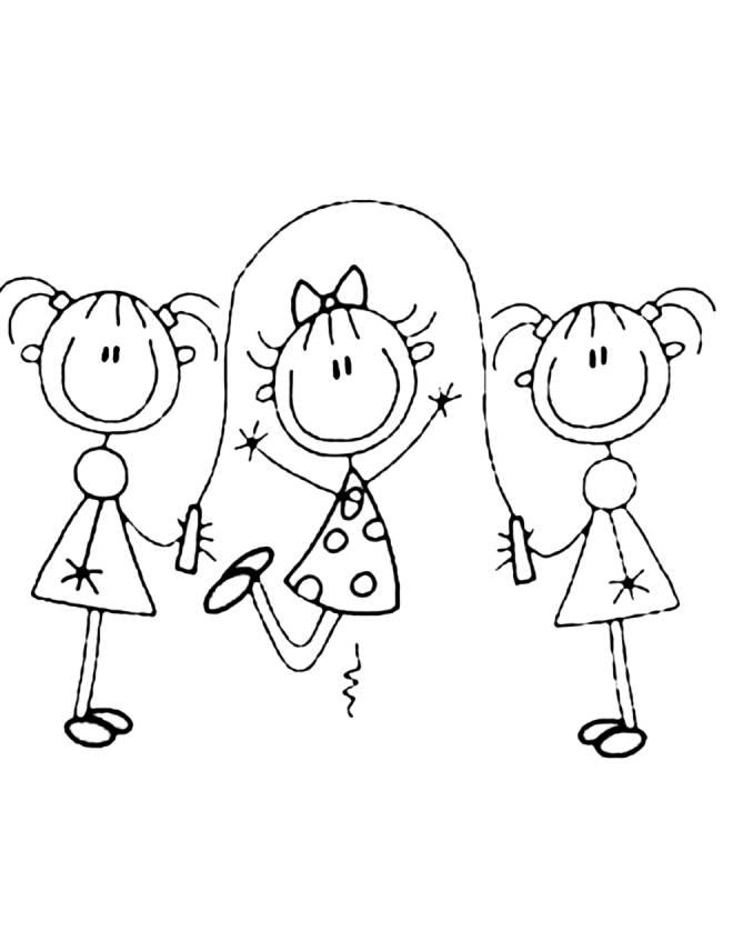 Gioco Per Colorare.Disegno Di Gioco Della Corda Da Colorare Per Bambini