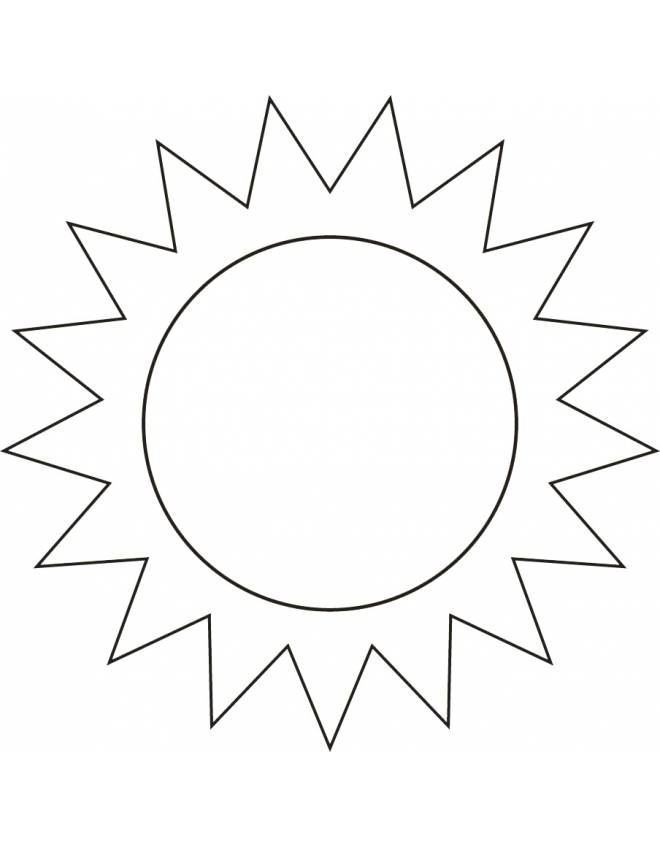 Disegno di il sole da colorare per bambini for Sole disegno da colorare
