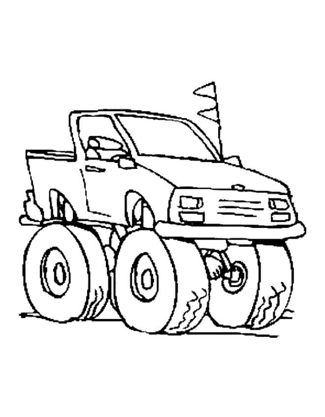 Disegno di jeep da colorare per bambini for Disegni da colorare e stampare di cars