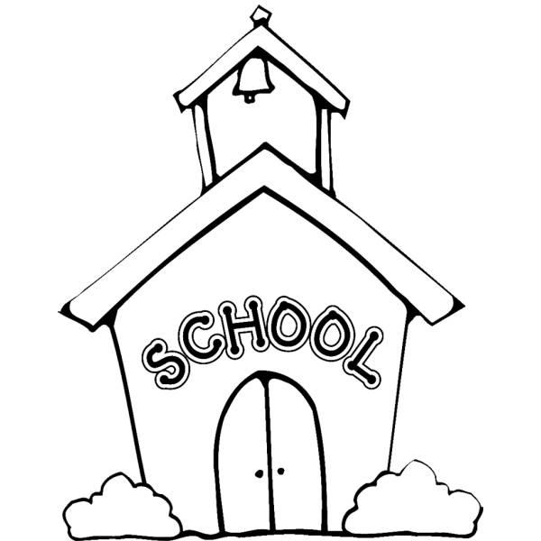 Disegno di la scuola da colorare per bambini - Indietro a scuola foglio da colorare ...