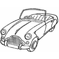 Disegno di Macchina Cabrio da colorare
