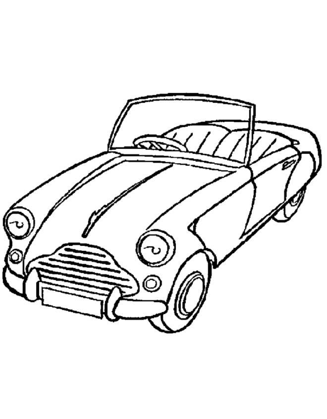 Disegno Di Macchina Cabrio Da Colorare Per Bambini Disegnidacolorareonline Com