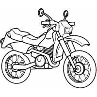 Disegno di La Motocicletta da colorare