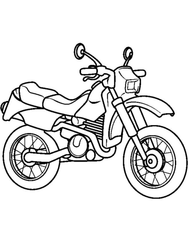 Disegno Di La Motocicletta Da Colorare Per Bambini