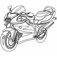 Disegno di Motocicletta da Corsa da colorare