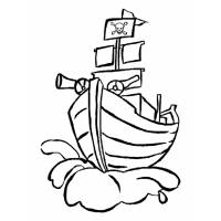 Disegno di Nave Pirata da colorare