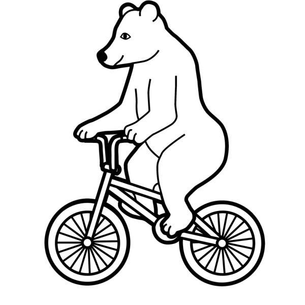 Disegno Di Lorso In Bicicletta Da Colorare Per Bambini