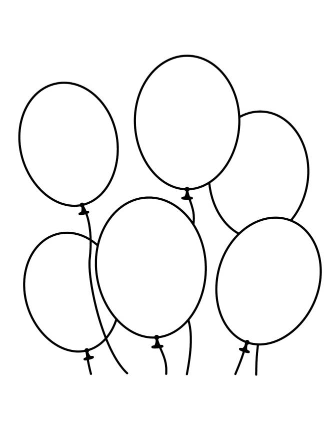Disegno Di Palloncini Da Colorare Per Bambini Disegnidacolorareonline Com