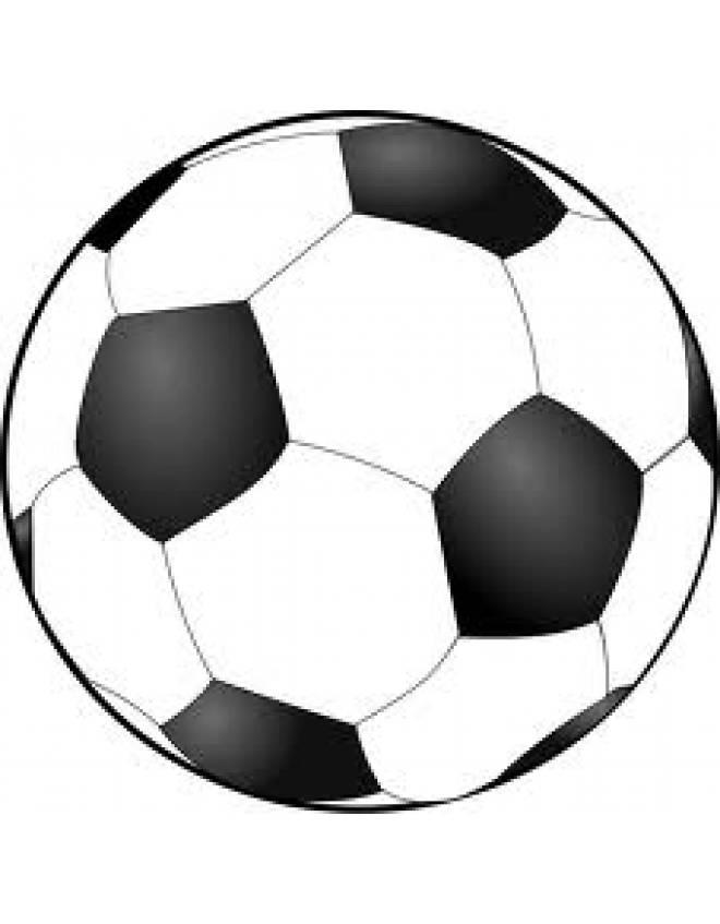 Disegno di pallone calcio da colorare per bambini for Disegni da colorare calcio
