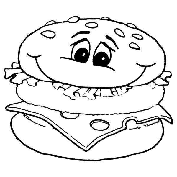 Disegno di panino da colorare per bambini