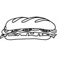 Disegno di Sandwich da colorare