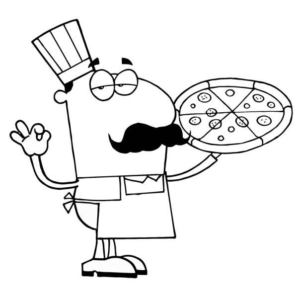 Disegno Di Il Pizzaiolo Napoletano Da Colorare Per Bambini