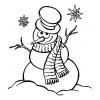 disegno di Pupazzo di Neve da colorare