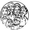 disegno di Quadretto di Famiglia da colorare