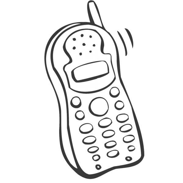 Disegno di il telefonino da colorare per bambini for Immagini per cellulari gratis