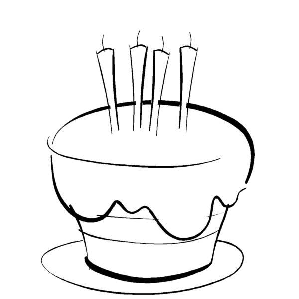 Disegno di torta auguri da colorare per bambini for Trota da colorare