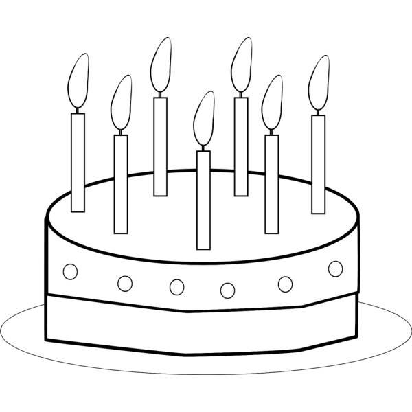 Disegno di Torta Buon Compleanno da colorare