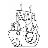 Disegno di Torta di Compleanno da colorare