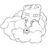 disegno di Vento e Nuvole da colorare