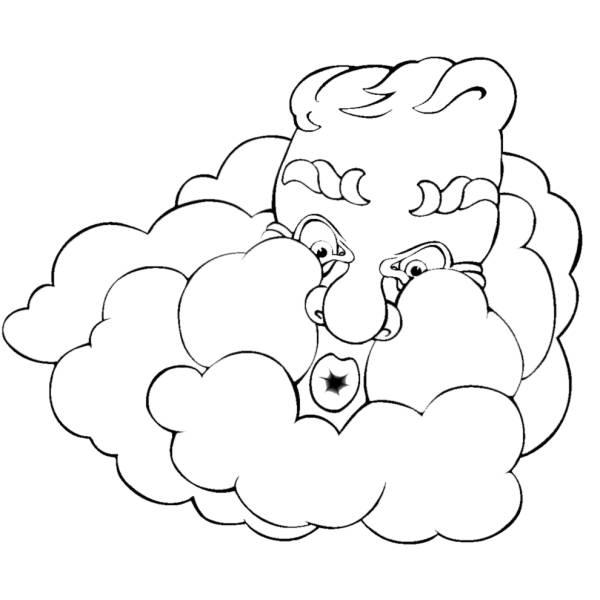 Disegno di vento e nuvole da colorare per bambini for Nuvola da colorare