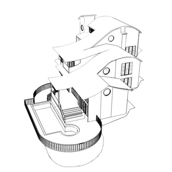 Disegno di casa in 3d da colorare per bambini for Progetta casa in 3d online