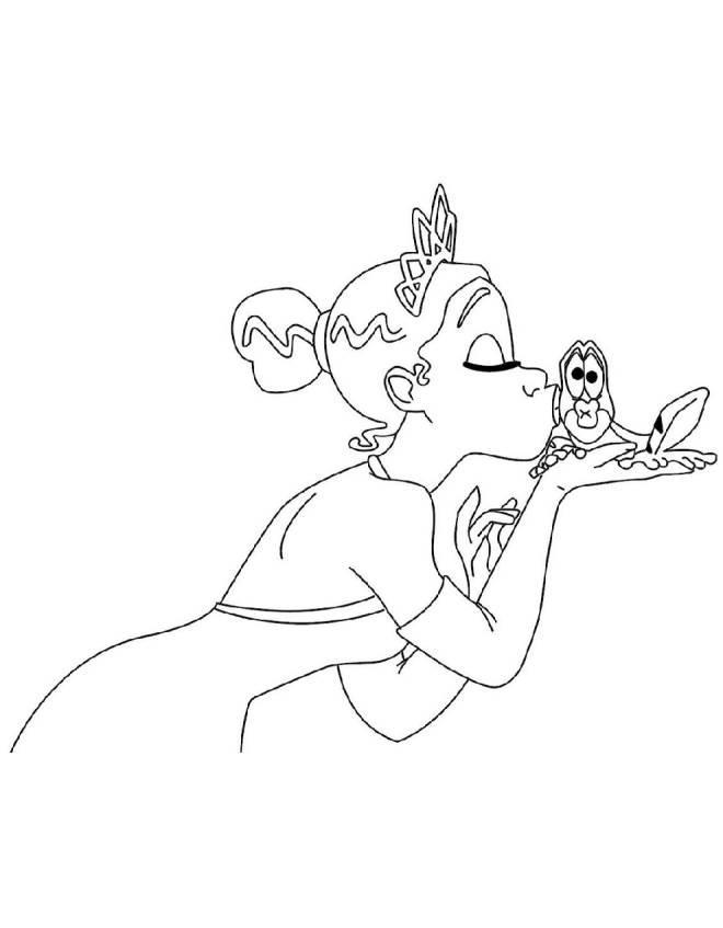Disegno Di La Principessa E Il Ranocchio Da Colorare Per Bambini