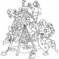 disegno di Alice e le Carte da Gioco da colorare