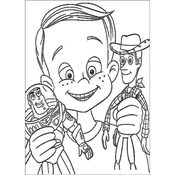 Disegno Di Andy Woody E Buzz Da Colorare Per Bambini
