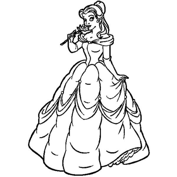 Disegno di Belle Vestito da Sera da colorare