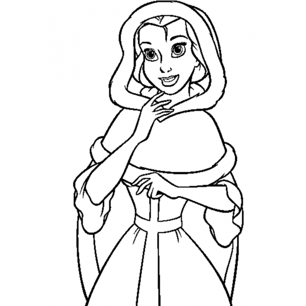 Disegno di Belle da colorare