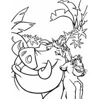 disegno di Pumba Re Leone da colorare