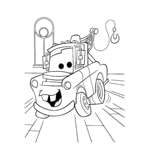 Disegno di Cricchetto Cars da colorare