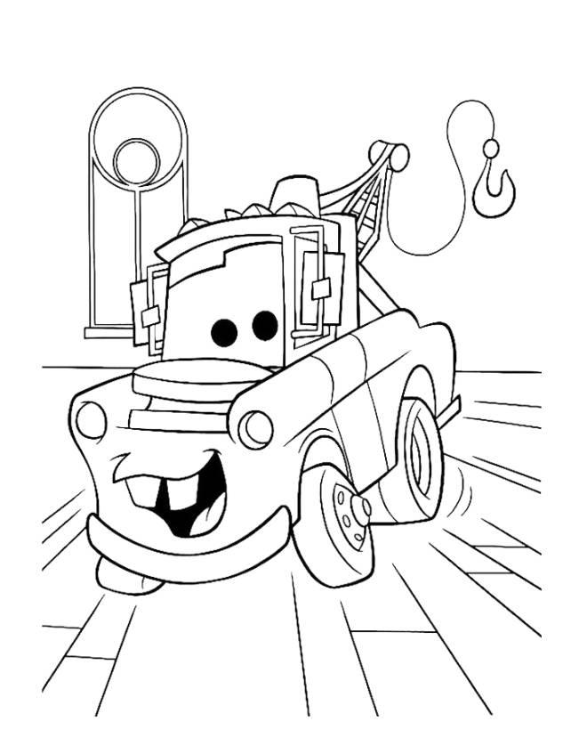 Disegno di cricchetto cars da colorare per bambini for Disegni da stampare e colorare cars