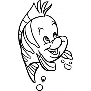 Disegno di flounder da colorare per bambini gratis for Disegni da colorare ariel