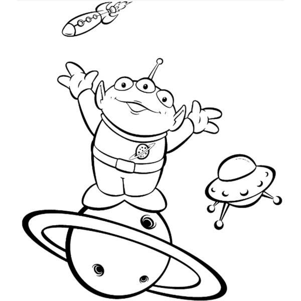 Disegno di L'Alieno di Toy Story da colorare