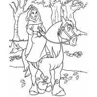 Disegno di Belle a Cavallo da colorare
