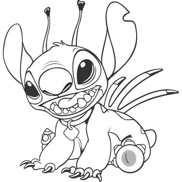 Disegno Di Stitch Da Colorare Per Bambini Disegnidacolorareonlinecom